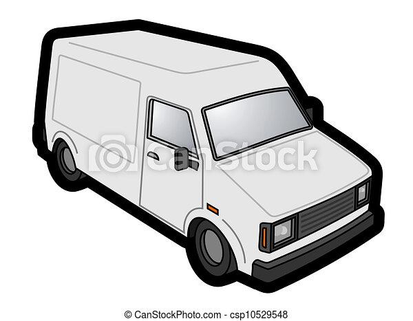 vit, skåpbil - csp10529548