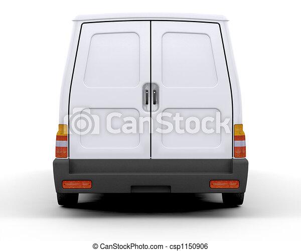 vit, skåpbil - csp1150906