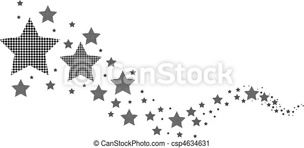 vit, svart, stjärnor - csp4634631