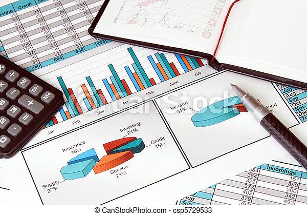 vita, ancora, stats, finanza, affari - csp5729533