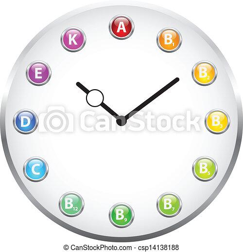 vitamine, horloge - csp14138188