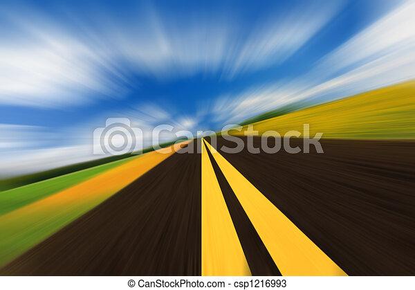 vitesse, route - csp1216993