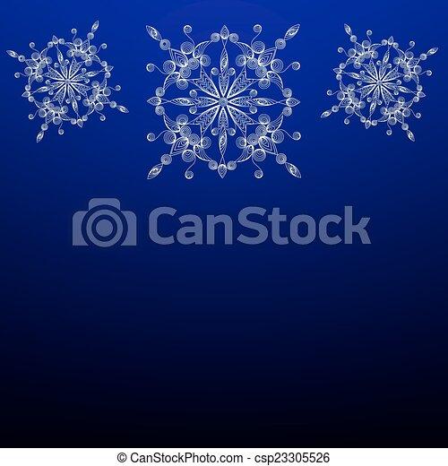 Vitiate snowflakes in the technique of quilling. - csp23305526