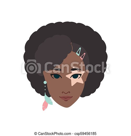 Vitiligo On African American Woman Face Vitiligo Eye Patch On