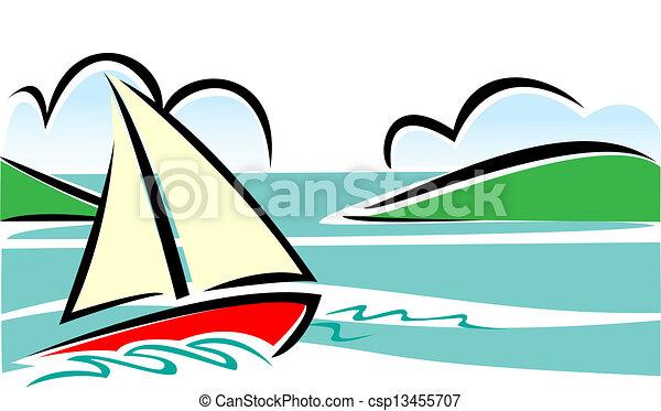 Vitorlás hajó rajz