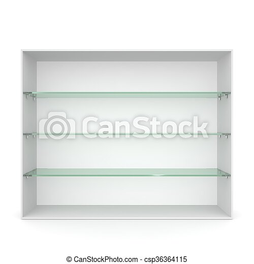 Vitrina estantes vidrio verde blanco vaco Vitrina