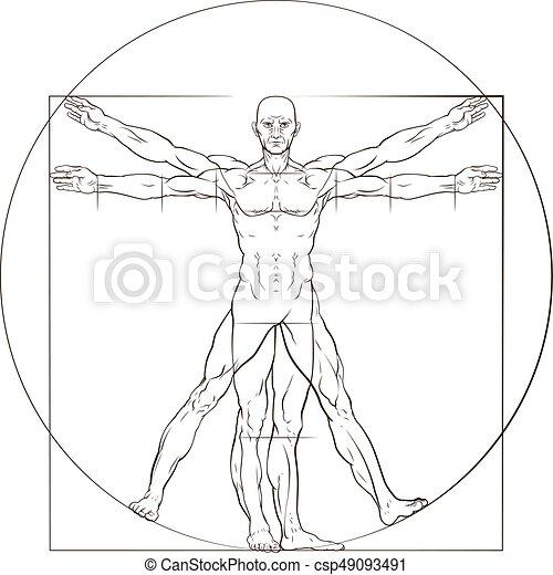 Vitruvian man. A human figure like leonard da vinci s vitruvian man ...