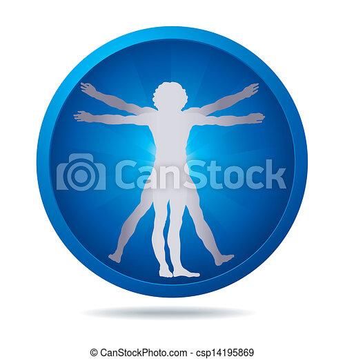 Vitruvian man icon - csp14195869
