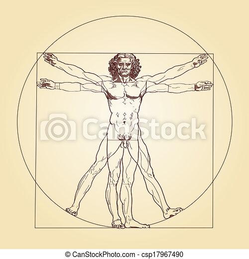 Vitruvian Man Leonardo da Vinci - csp17967490