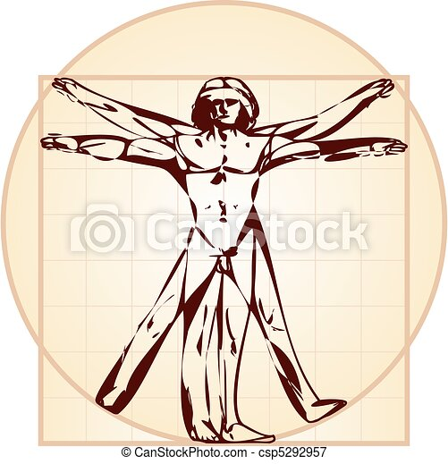 vitruvian osoba, version), (stylized - csp5292957