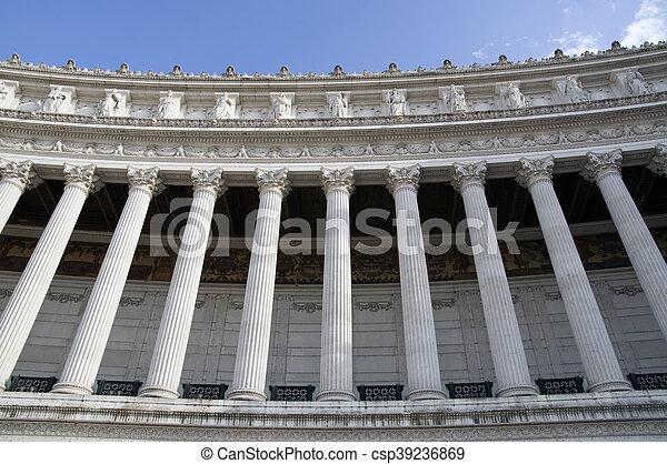 Vittoriano columns in Rome - csp39236869
