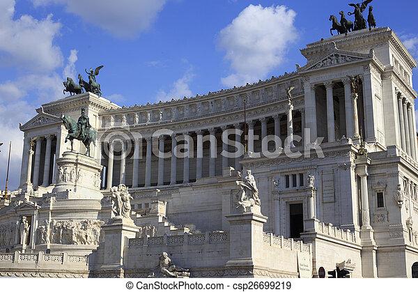 Vittoriano in Rome, Italy - csp26699219