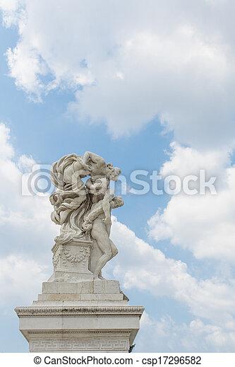 Vittoriano in Rome, Italy - csp17296582