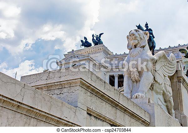 Vittoriano in Rome, Italy - csp24703844