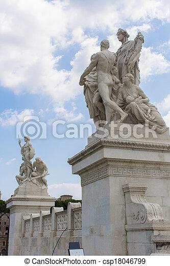 Vittoriano in Rome, Italy - csp18046799