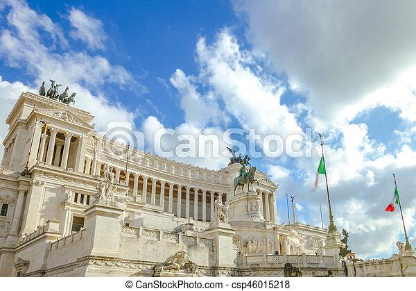 Vittoriano in Rome - csp46015218