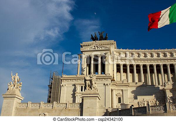 Vittoriano in Rome - csp24342100