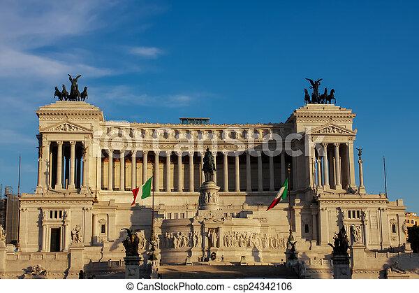 Vittoriano in Rome - csp24342106