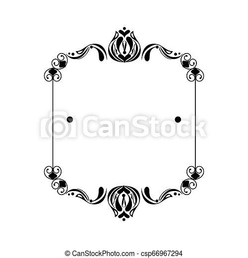 vittoriano, quadrato, stile, etichetta - csp66967294