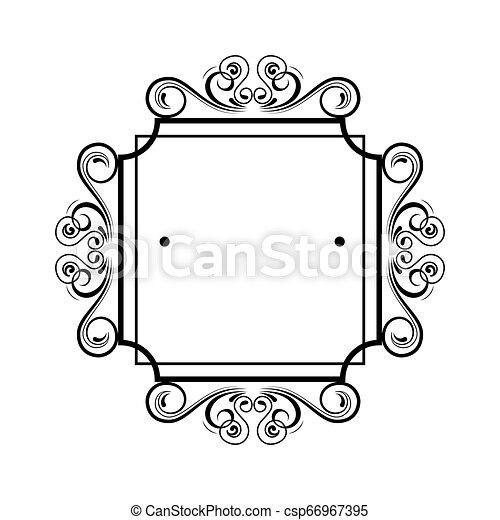 vittoriano, quadrato, stile, etichetta - csp66967395