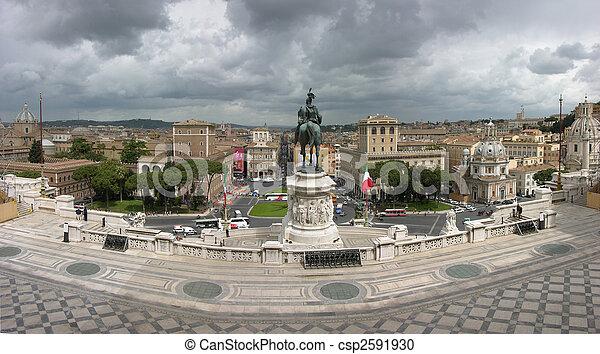 Vittorio Emanuele II. Monument in Rome - csp2591930