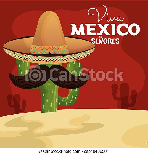 63847e72607a7 Icon Viva Mexico Cactus With Hat And Moustache Design