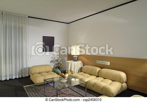 vivant, chambre hôtel - csp2458310