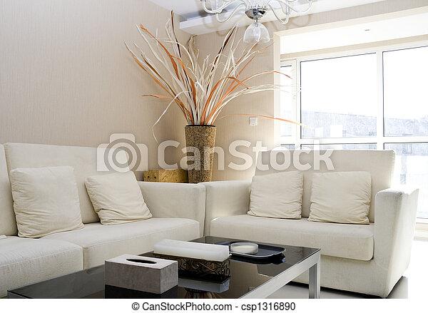 vivant, moderne, luxe, salle - csp1316890