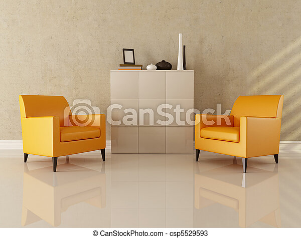 vivant, salle moderne - csp5529593