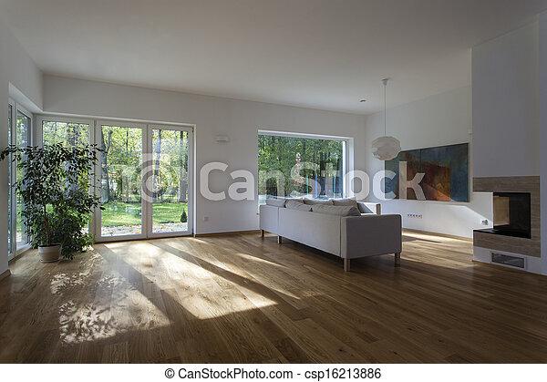 vivant, spacieux, salle - csp16213886