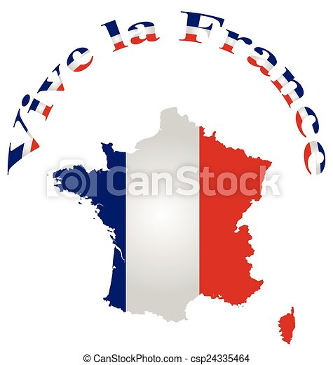 vive la france message and national french republic flag clip art rh canstockphoto com french clip art images france clipart png