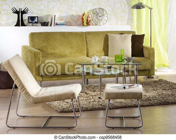 vivendo, quarto moderno - csp9568458