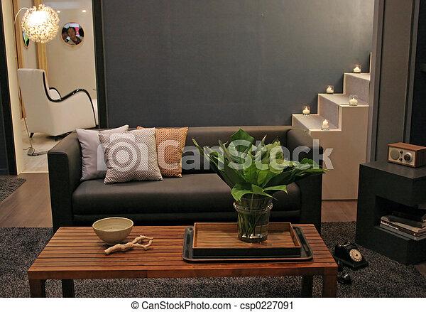 vivente, interiors, -, stanza, casa - csp0227091