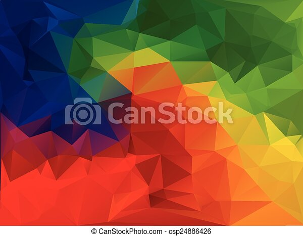Vivid Color Polygonal Mosaic Background, Vector illustration,  Business Design Templates  - csp24886426