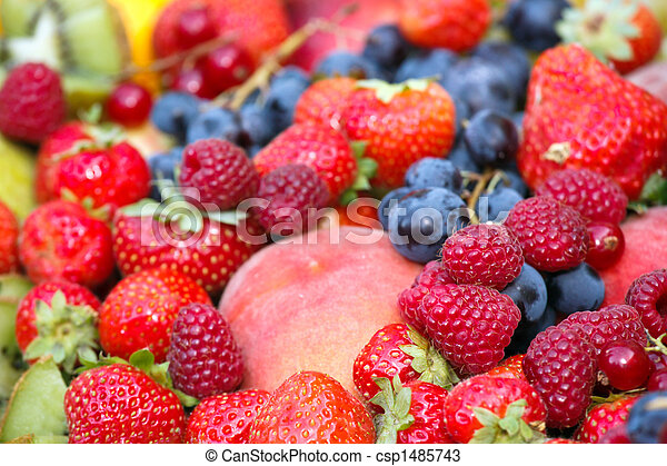 vivid fruit assortment - csp1485743