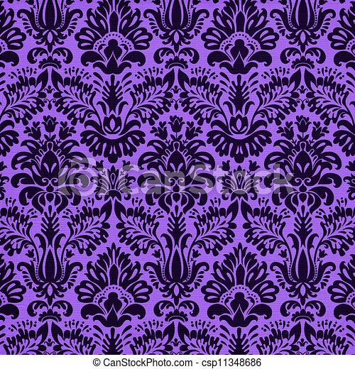 vivid purple damask background - csp11348686