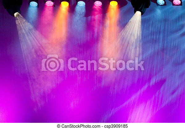 vivid stage spotlights - csp3909185