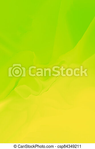 Vivid yellow green abstract background, blurred lines, vertical - csp84349211
