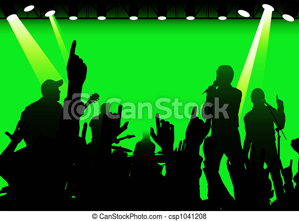 Rock and roll en vivo - csp1041208