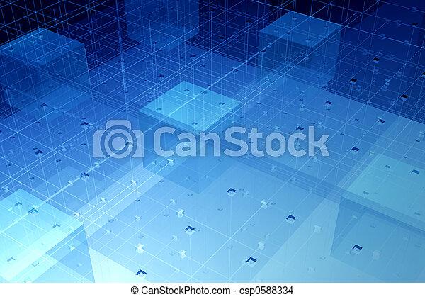 vlákno, technika, průhledný - csp0588334