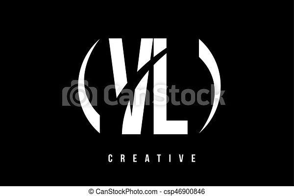 Vl L Hintergrund Design Brief V Logo Weisses Schwarz