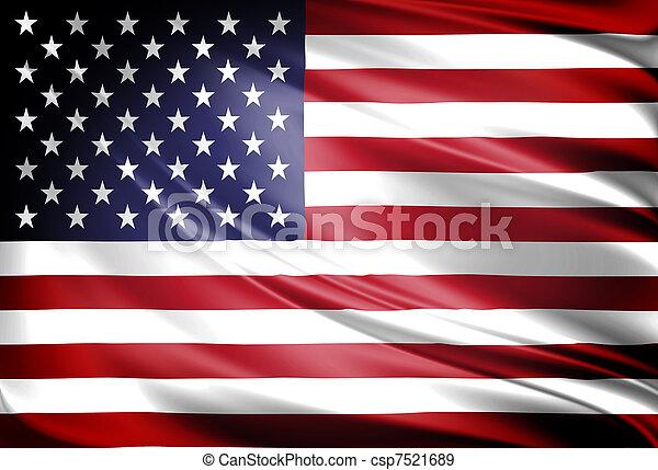 vlag, amerika - csp7521689