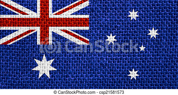 vlag, australië - csp21581573