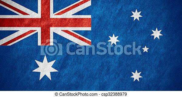 vlag, australië - csp32388979