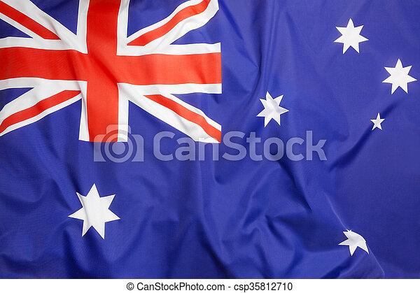 vlag, australië - csp35812710
