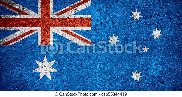vlag, australië - csp55344419
