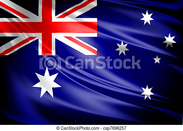 vlag, australië - csp7696257