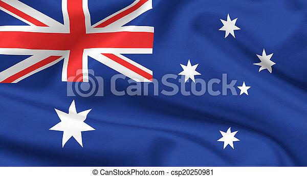 vlag, australië - csp20250981