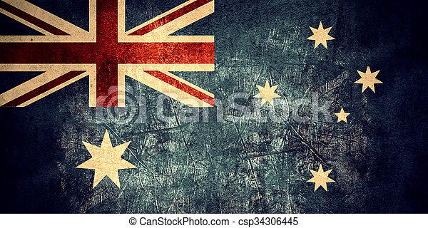 vlag, australië - csp34306445
