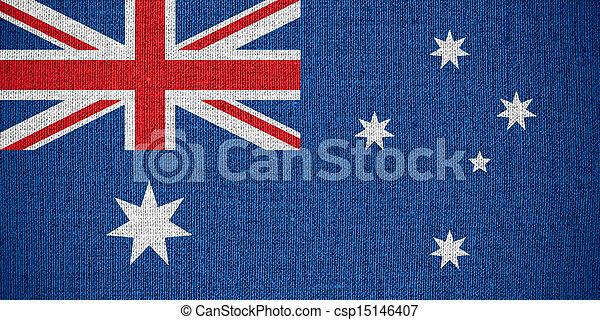 vlag, australië - csp15146407
